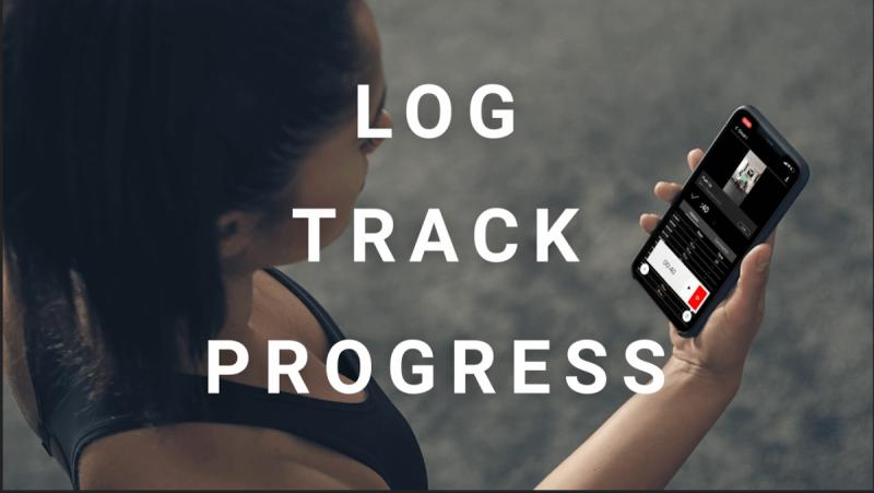 Log track progress in app